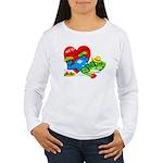 Froggy Valentine Women's Long Sleeve T-Shirt
