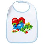 Froggy Valentine Bib