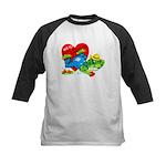 Froggy Valentine Kids Baseball Jersey