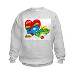 Froggy Valentine Kids Sweatshirt