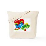 Froggy Valentine Tote Bag