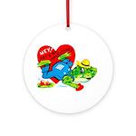 Froggy Valentine Ornament (Round)