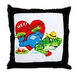 Froggy Valentine Throw Pillow
