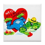 Froggy Valentine Tile Coaster