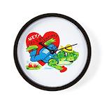 Froggy Valentine Wall Clock