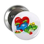 Froggy Valentine Button
