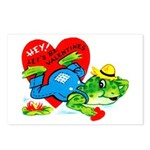 Froggy Valentine Postcards (Package of 8)
