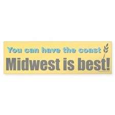 Midwest Is Best Bumper Bumper Sticker