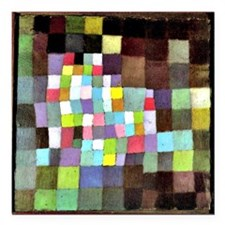 "Abstraction with Referen Square Car Magnet 3"" x 3"""