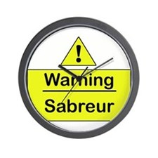 Sabre Warning -  Wall Clock