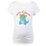 Its A Girl Pregnancy Announcement dinosaur Materni