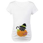 Halloween Witch Cat Pumpkin Baby Maternity T-Shirt