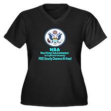NSA Now Hiring Sub-Contractors Plus Size T-Shirt