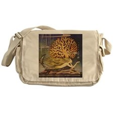 Vintage Mermaid Messenger Bag