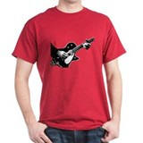 Black and White Guitarist T-Shirt