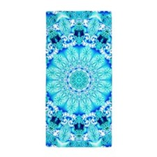 Aqua Lace Abstract Beach Towel