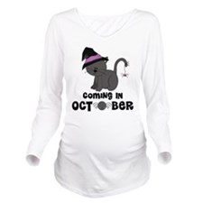 Halloween Coming In October Witch Cat Long Sleeve