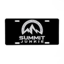 Summit Junkie Aluminum License Plate