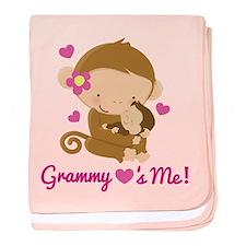 Grammy Loves Me monkey baby blanket