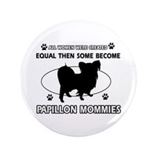 "papillon mommy designs 3.5"" Button (100 pack)"