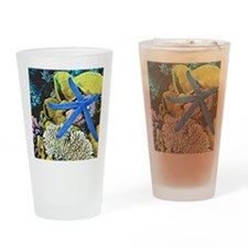 Ocean Life with Starfish Drinking Glass