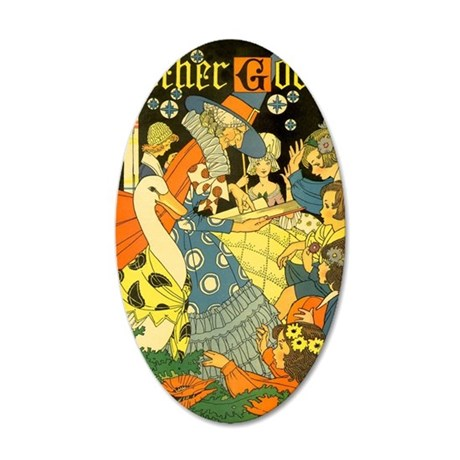 Vintage Mother Goose 35x21 Oval Wall Decal