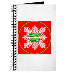 Merry Xmas Symetrical Snowfla Journal