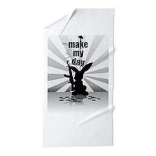 Make My Day Beach Towel