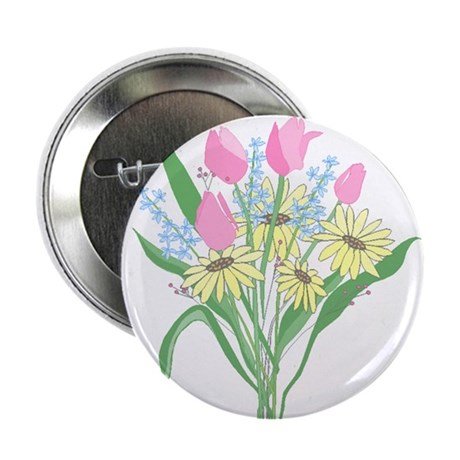 "Valentine Bouquet 2.25"" Button (10 pack)"