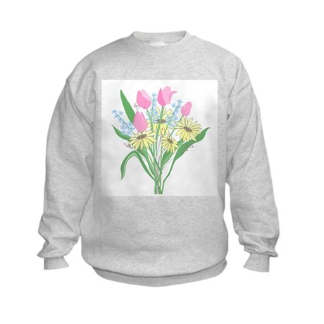 Valentine Bouquet Kids Sweatshirt