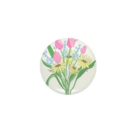 Valentine Bouquet Mini Button (10 pack)