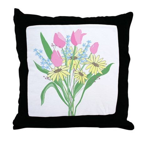 Valentine Bouquet Throw Pillow