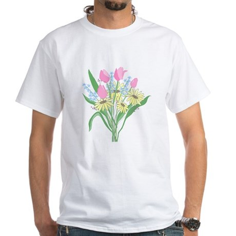 Valentine Bouquet White T-Shirt
