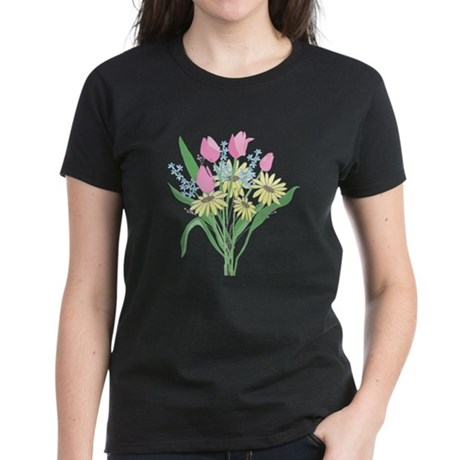 Valentine Bouquet Women's Dark T-Shirt