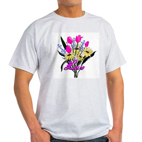 Love Bouquet Ash Grey T-Shirt
