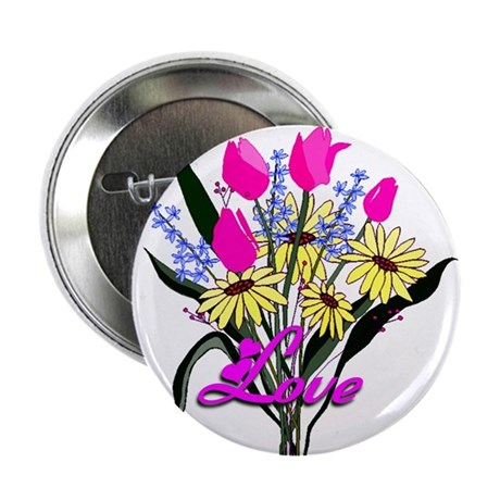 "Love Bouquet 2.25"" Button (100 pack)"