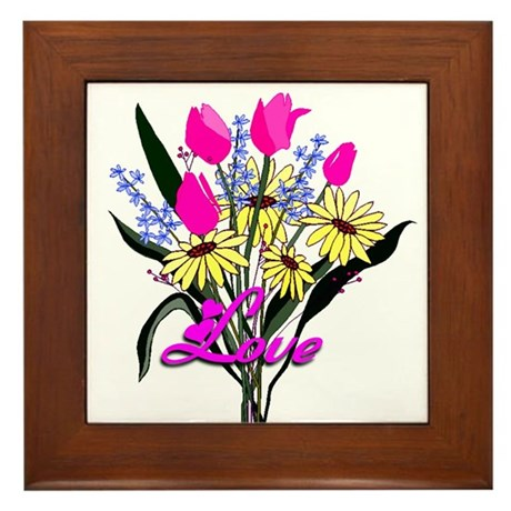 Love Bouquet Framed Tile