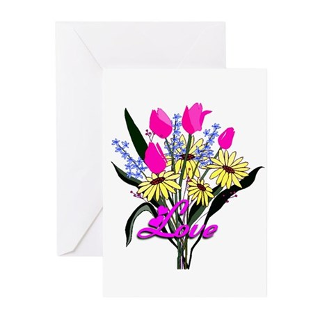 Love Bouquet Greeting Cards (Pk of 10)