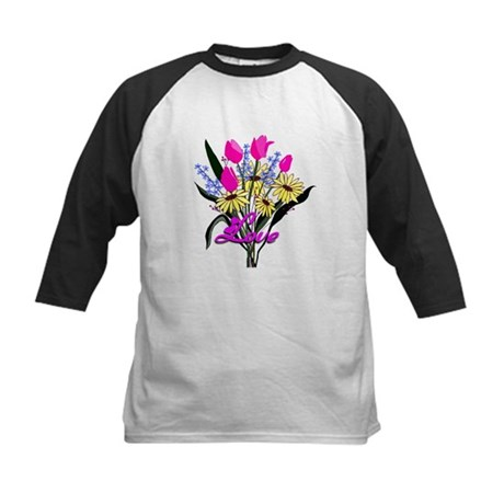 Love Bouquet Kids Baseball Jersey