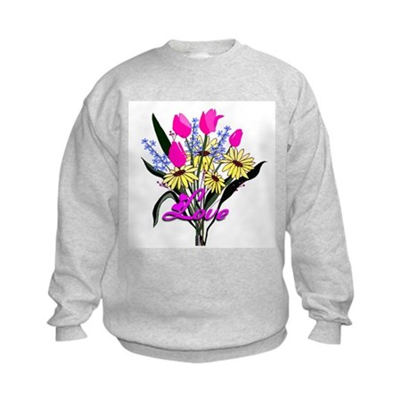 Love Bouquet Kids Sweatshirt