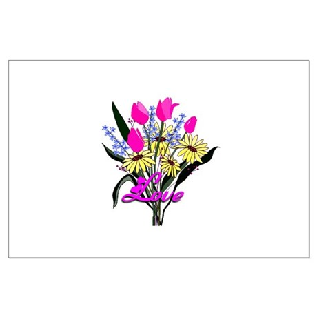 Love Bouquet Large Poster