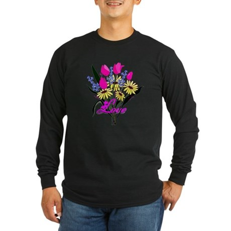 Love Bouquet Long Sleeve Dark T-Shirt