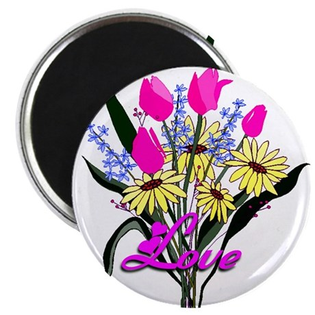 "Love Bouquet 2.25"" Magnet (10 pack)"