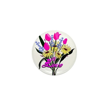 Love Bouquet Mini Button (10 pack)