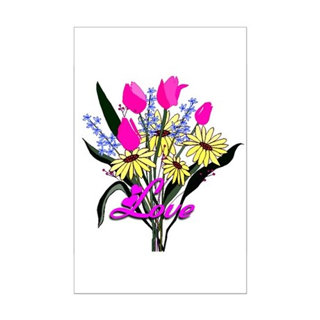 Love Bouquet Mini Poster Print