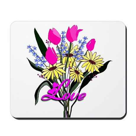 Love Bouquet Mousepad