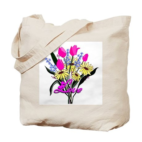 Love Bouquet Tote Bag