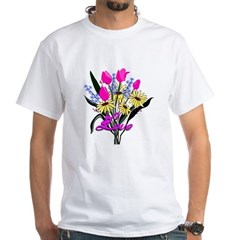 Love Bouquet White T-Shirt