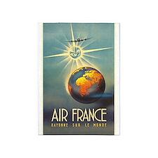 Air France, Globe, Sun,Travel, Vintage Poster 5'x7