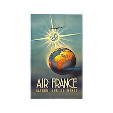 Air France, Globe, Sun,Travel, Vintage Poster 3'x5